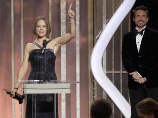 Jodie Foster, 70th Golden Globes, Robert Downey Jr.