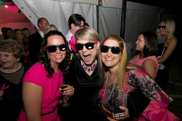 Komen pink party Kerri Long, Lindsey Leaverton, Theresa Alvarez
