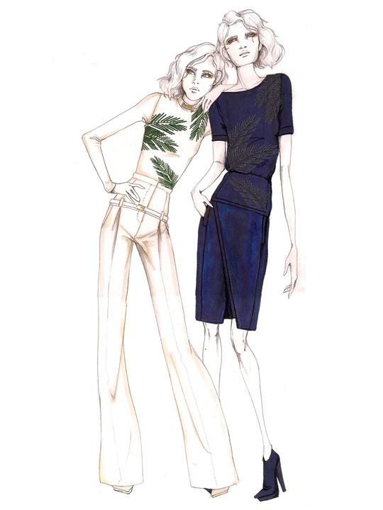 Fashion Week fall 2013, sketches, Daniel Vosovic, February 2013