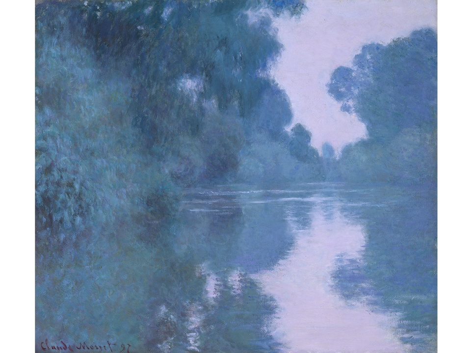 MFAH Monet and the Seine Impressions of a River October 2014 Claude Monet - Morning on the Seine, Near Giverny