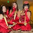 Sara Acker, Miranda Rangel, Adele Hartland at Mission of Yahweh gala