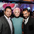 4 Sergio Morales, from left, Vivian Wise and Fadi Armanious at The Social Book 2015 Launch Party January 2015