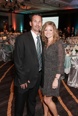 James and Tabitha Severson at the College of Biblical Studies Rising Star Dinner May 2014