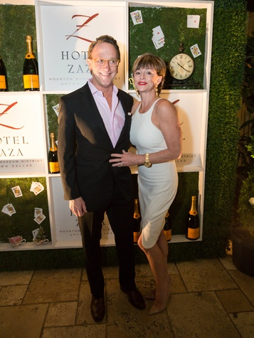 Charlie and Laurie Givens, Hotel ZaZa spring party