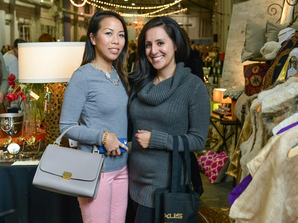 36 Christine Nguyen, left, and Krystal Mendez at the CultureMap Pop-Up Shop December 2014