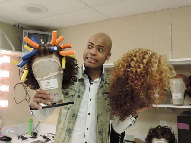 Tarra Gaines TUTS Kinky Boots Darius Harper as Lola February 2015 Harper & Lola's wigs
