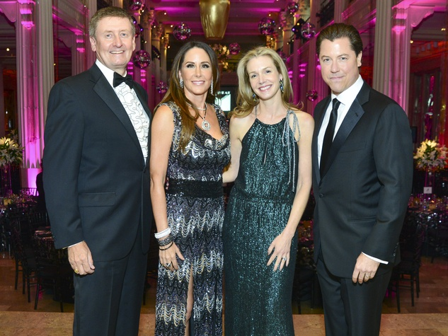 1 Tom and Liz Glanville, from left, and Katherine and Ian Fay at the Children's Museum Gala October 2013