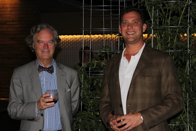 1687 Stephen Fox and Ryan Gordon at the UH College of Architecture Memorable Meals October 2014