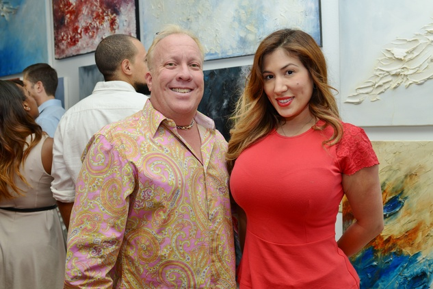 Guy and Lissette Mahaffey at the Hanh Tran Gallery opening June 2014