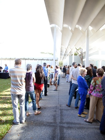 Philip Glass concert, December 2012, line, crowd, The Menil