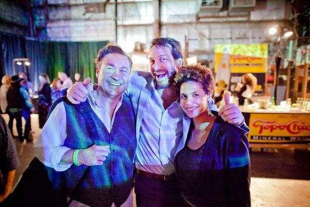John Salinardo, from left, Florian Mutschlek and Jasmine Richardson at HAA Iluminación November 2014