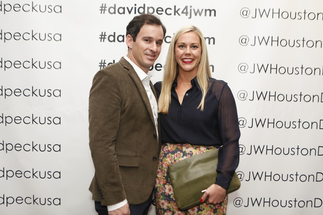 Shawn Conerly and Heather Mcleskey at the David Peck runway show September 2014