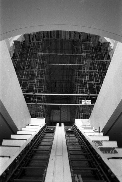 News_Wortham Theater_Escalator in Construction_May 2012