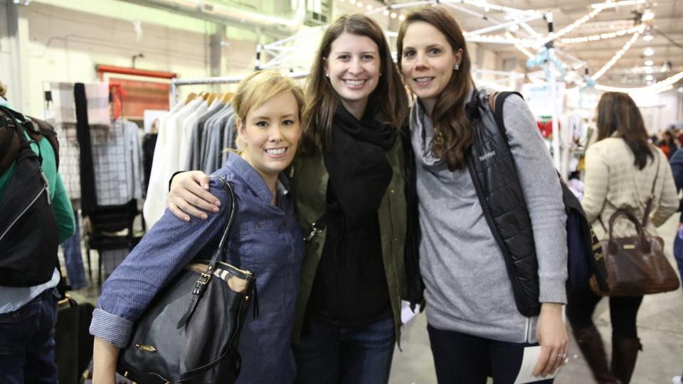 Jennifer Kavalinas, from left, Lauren Hewamudalige and Brandi Kendall at the CultureMap Pop-Up Shop December 2014