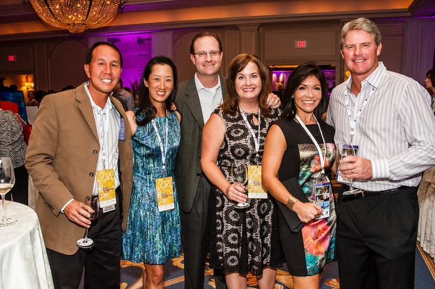 3 Monica and Hubert Ho, from left, Janet and David Cunningham and Pilar and Jeff McNear at The Periwinkle Foundation's Iron Sommelier October 2014