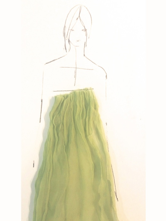 Fashion Week spring 2015 sketch Sept. 2014 Wes Gordon