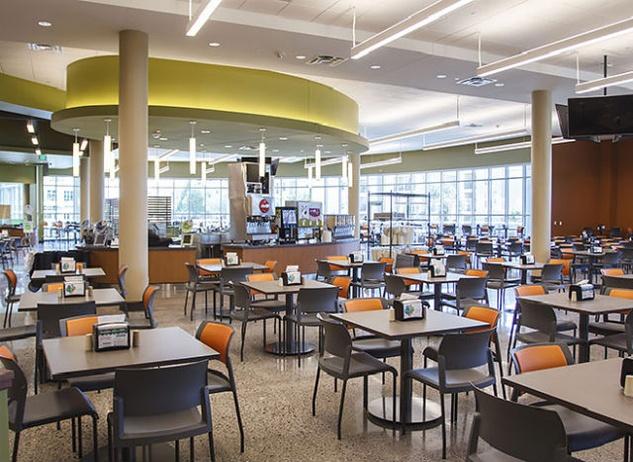 Dining hall at University of Texas at Dallas