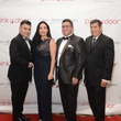 5 Edward Sanchez, from left, Enid Sanchez, Dr. Ronald Maldonado and Raul Diaz at the Pink Door Gala November 2014