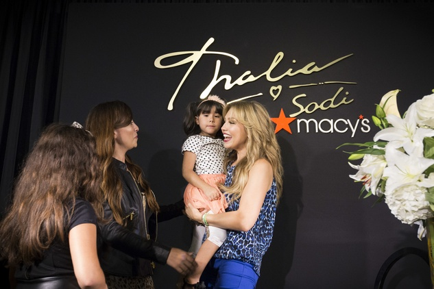 Thalia greets fans at Macy's Memorial City store