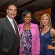 Luke Keller from left, Iris Cross and Sally Kolenda at the Teach For America benefit dinner