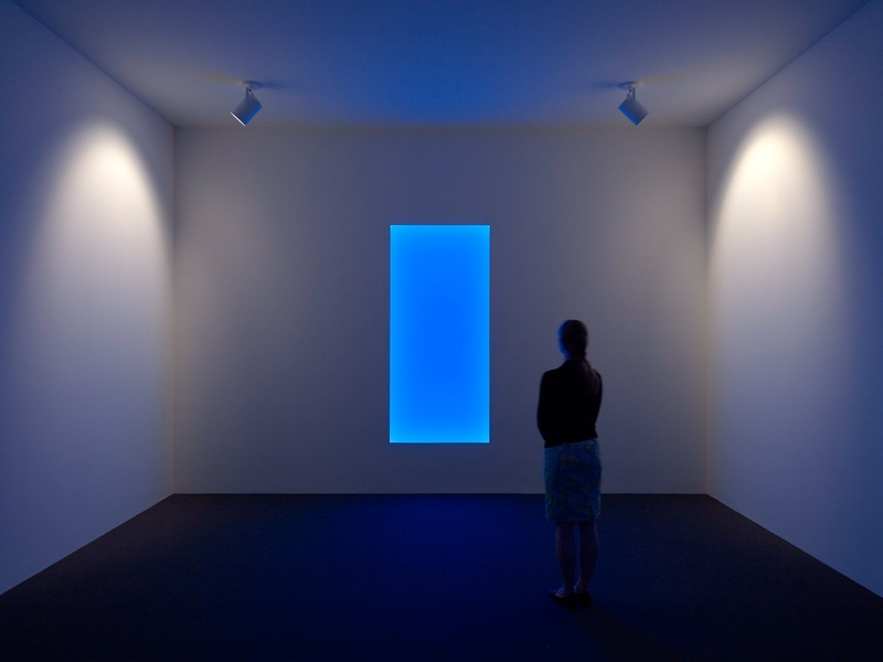 MFAH James Turrell The Light Inside June 2013 Aurora B, Tall Glass