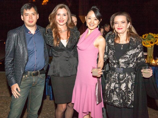 Maxim Poletaev, from left, Katia Hadjiyska, Nao Kusuzaki and Mila Golovine at Rothko Chapel's Moonrise Party on the Plaza October 2013