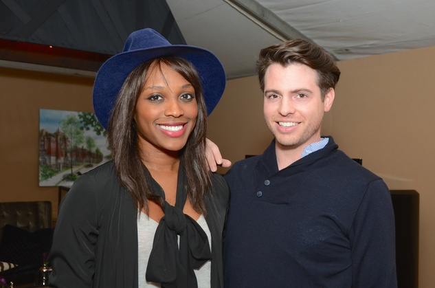 Alecia Harris and Matt Johns at the Butler Brothers party November 2014