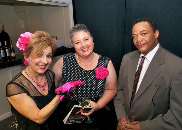 Komen pink party Gayle Stallings, Amanda Walker, Charles Walker