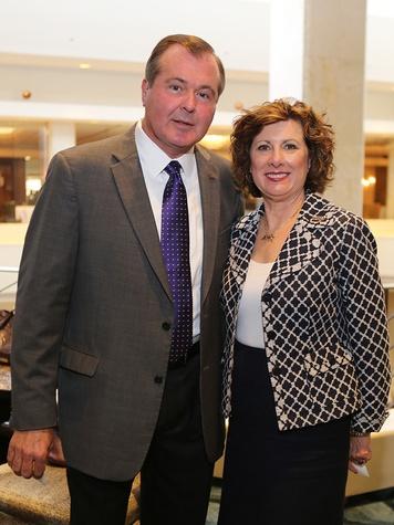 Wayne Miller and Karen Deville at the LSU Foundation luncheon June 2014