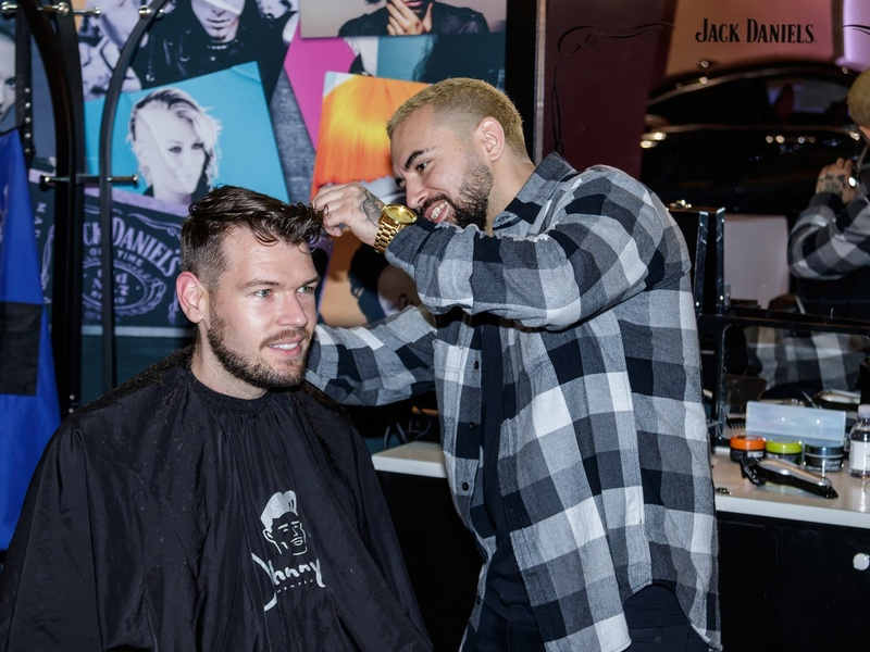 Barber shop, CultureMap Dallas Holiday Pop-up 2017