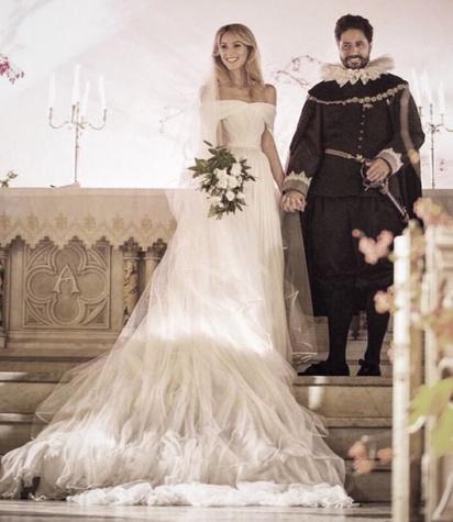 Nieves Zuberbühler wedding gown by Brandon Maxwell