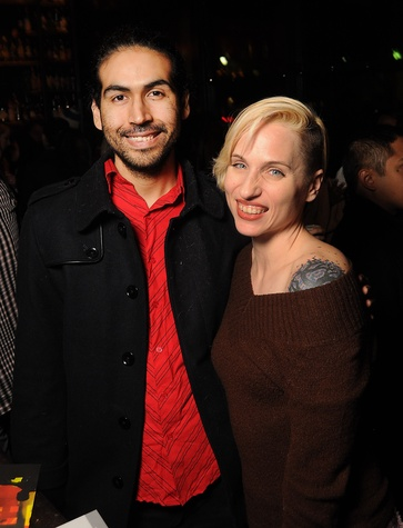2 Adam Castaneda and Rebecca French at the CounterCurrent Kickoff Party March 2015