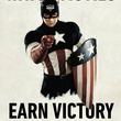 poster with Captain America for Alamo Drafthouse Victory rewards program