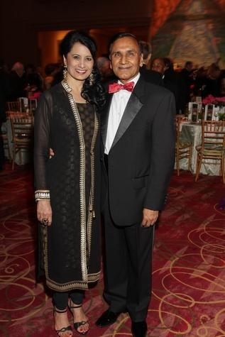 Renu Khator, Suresh Khator, Moores School gala, March 2014