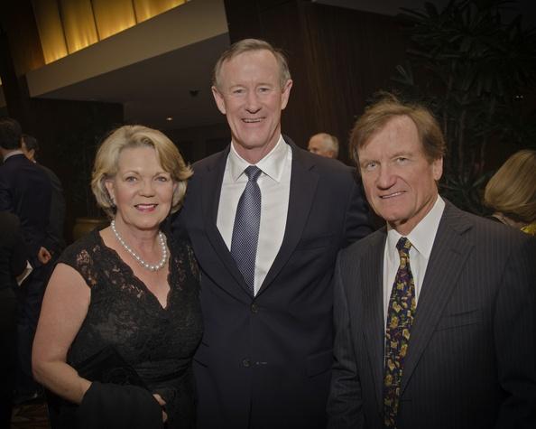 Texas Heart Institute dinner, Feb. 2016, Pam Ott, William McRaven, Dr. David Ott