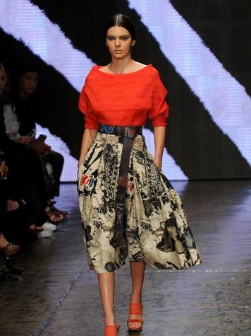 Fashion Week spring 2015 Model Kendall Jenner for Donna Karan