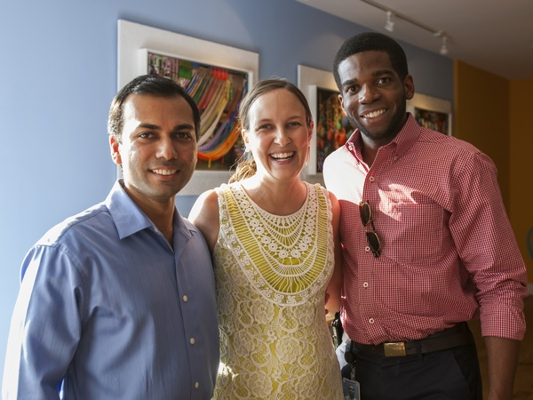 Dr. Semant Jain, Ryann Jarrard, Matt Pierce, La Fisheria, Aug. 2012