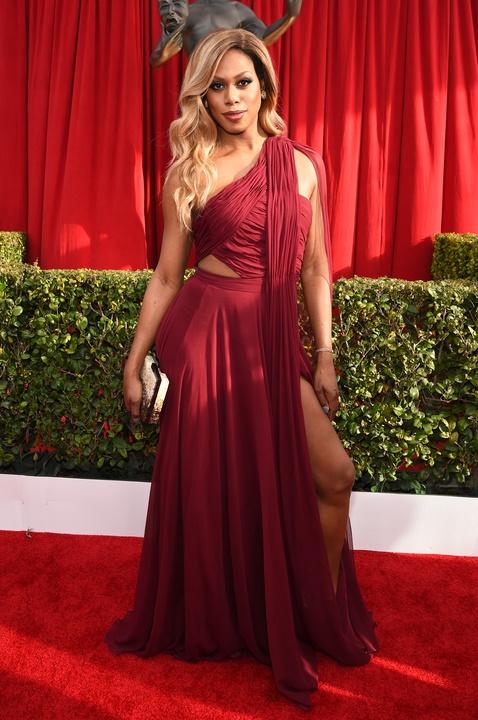 Laverne Cox at Screen Actors Guild Awards
