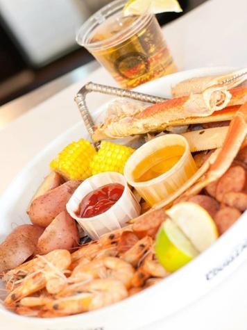 Seafood platter, Aw Shucks, Dallas