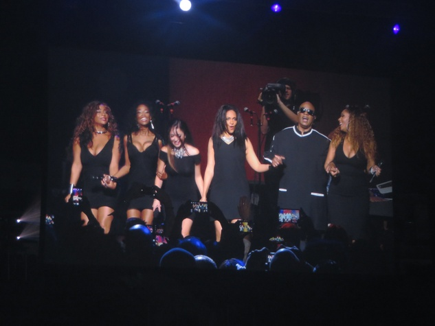 Stevie Wonder and singers take bow at Songs in the Key of Life concert