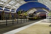 DART Irving Convention Center, rail, train
