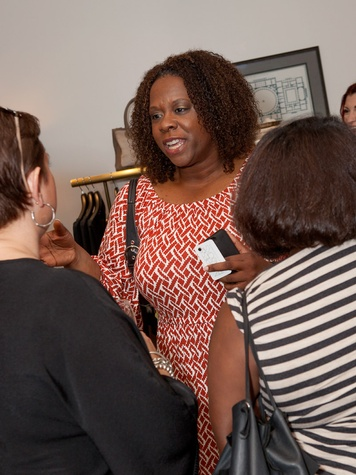 Felice Simmons Sloan at the Julie Rhodes Fashion & Home Houston opening party October 2013