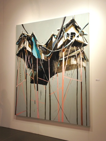 Houston Fine Arts Fair, recap, September 2012 Mie Olise, Taubane Centralen, 2012, oil and acrylic on canvas