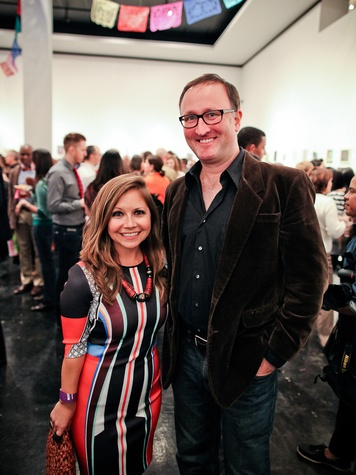 Meghan Miller and James Glassman at the Lawndale Gala and Retablo Silent Auction October 2013
