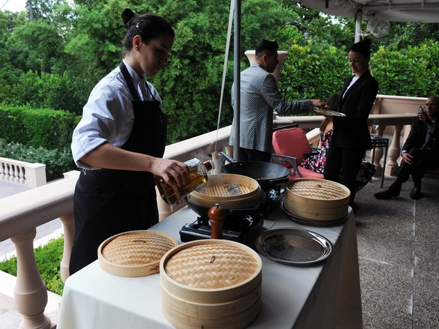 Dinner by Roca brothers at Rienzi house August 2014