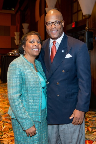 News, Shelby, Red Cross Luncheon, FEb. 2015, Genora and Dwight Boykins,