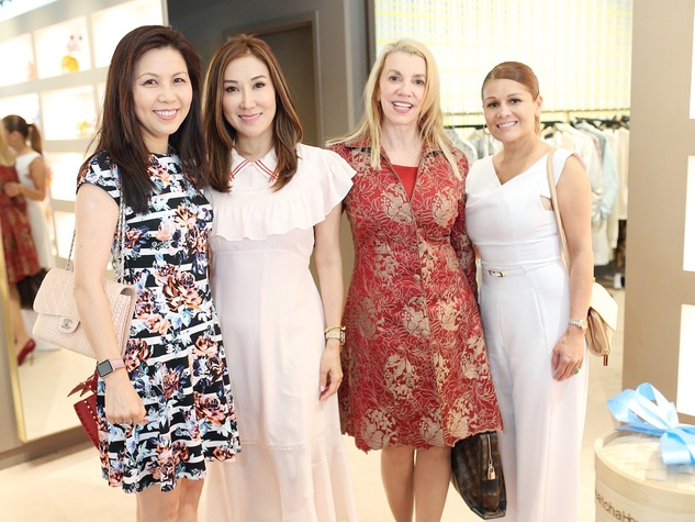 Diana Sun, Mandy Kao, Marie Bosarge, Anna Arispe at The Webster party