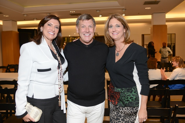55 Rosemarie Johnson, from left, Neal Hamil and Liz Zaruba at the HFAF at Neiman Marcus Art of Fashion September 2014