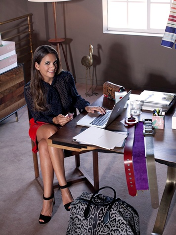 The Webster clothing store Miami March 2015 Laure Heriard Dubreuil at desk