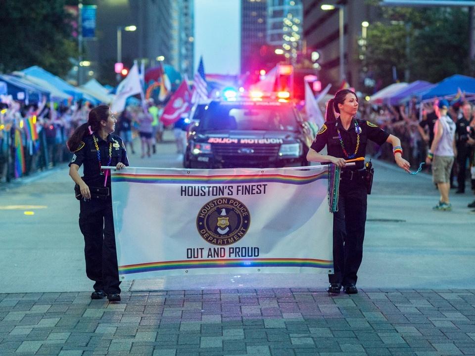Houston Pride Parade marchers